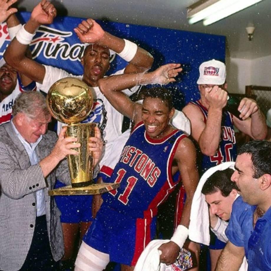 【NBA老照片】坏小子军团首尝冠军滋味