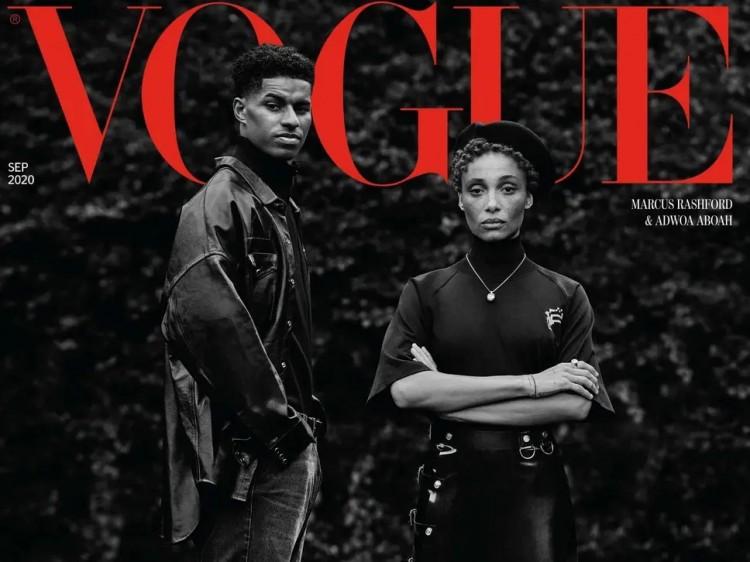 拉什福德登上时尚杂志VOGUE封面,疫情期间活泼表现获认可