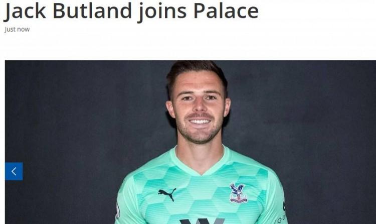 官方:水晶宫签下斯托克城门将巴特兰德,两头签约3年