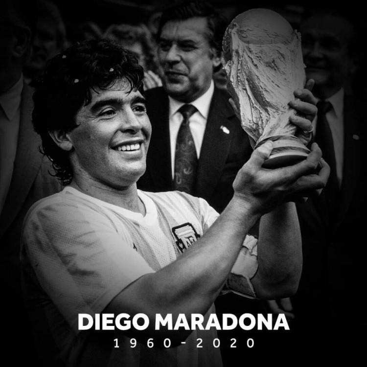 国际足联呼唤悉数211个成员协会赛前吊唁马拉多纳