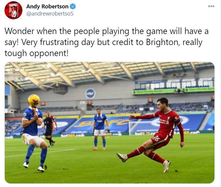 罗伯逊:在VAR方面,球员何时才干有发言权呢?