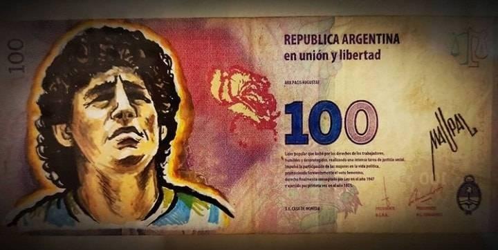 阿根廷议员提议将马拉多纳的头像印在本国货币上 