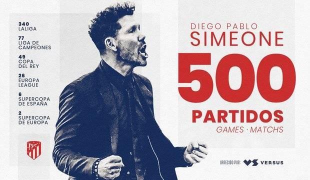 里程碑!西蒙尼完结执教马竞的第500场比赛
