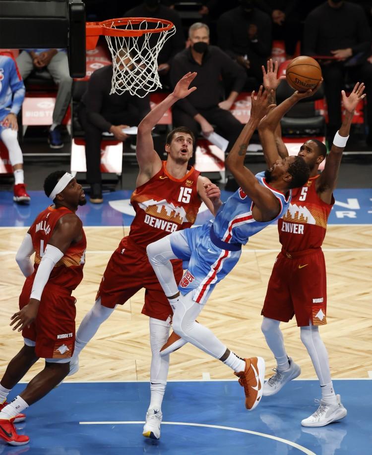 杜兰特生活总得分超越丹特利 升至NBA历史得分榜第28位