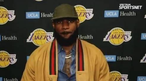 残阵湖人?詹姆斯:篮网也少了要害球员 咱们便是没发挥出实力 