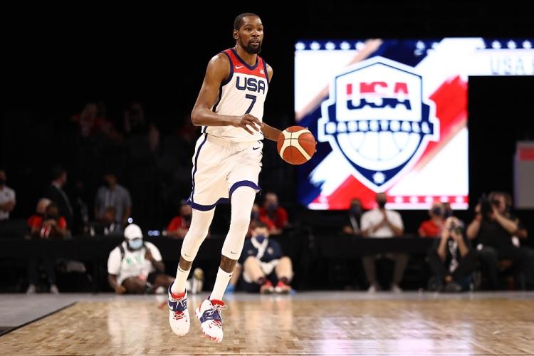 距离美国男篮队史得分王只差25分 KD:这并不是我们比赛的重点