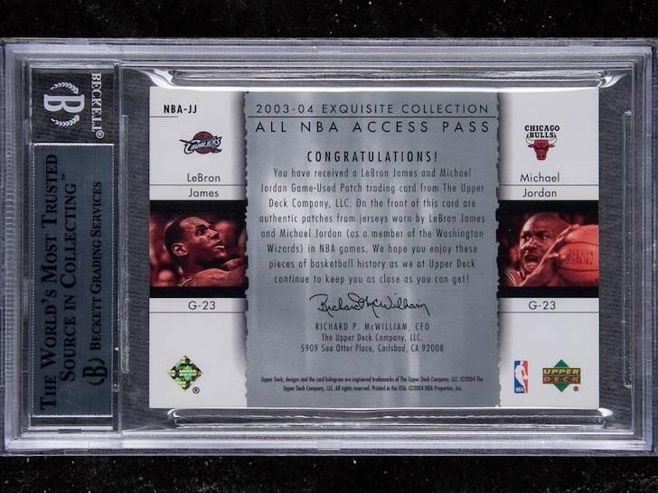史上最贵!乔丹&詹姆斯同框稀有球星卡拍出90万刀天价