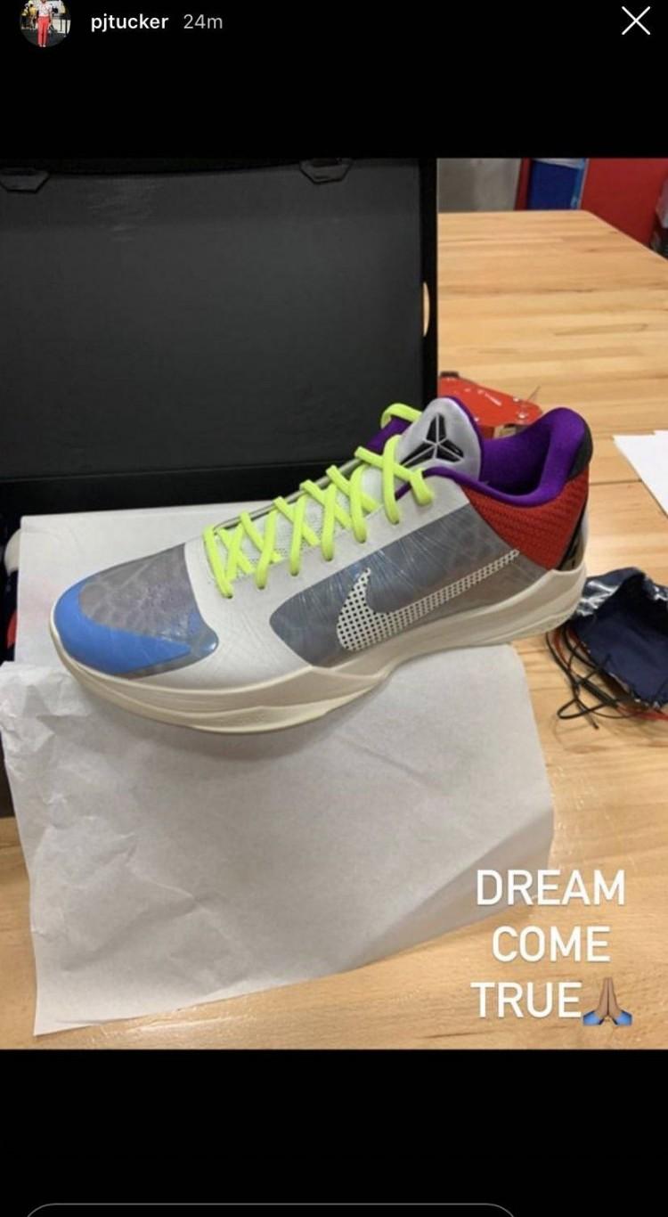 鞋王本色!塔克社媒秀新款未发售Kobe5Protro球鞋-直播吧zhibo8.cc