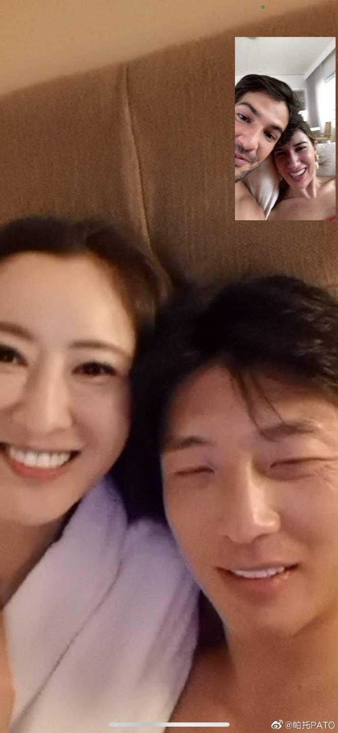 帕托与杨旭长途视频通话,杨旭:就不能选张好亮点的相片发微博?