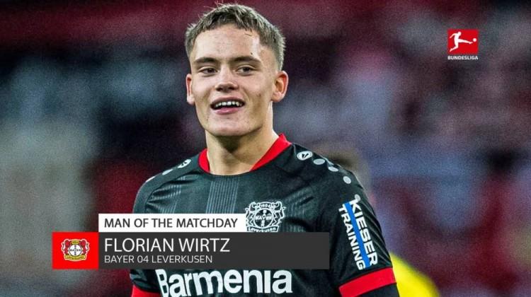 维尔茨以17岁261天成为德甲获得4粒进球最年轻的球员  