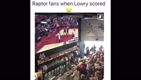 这。。当洛瑞罚篮得分 龙蜜疯狂庆祝不亚于夺冠
