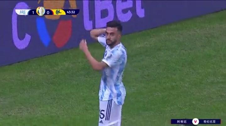 比赛集锦:美洲杯半决赛 哥伦比亚 2-3 阿根廷