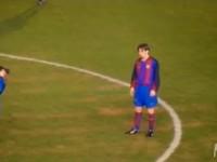 梅西16岁罕见比赛视频